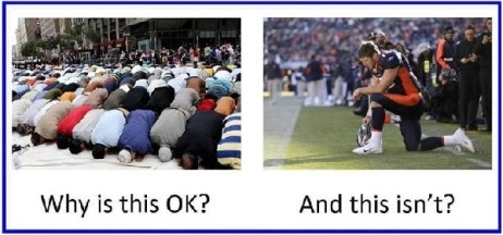 Islam Prayer vs. Football Prayer..?
