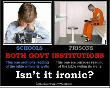 Schools vs. Prisons with Bibles..?